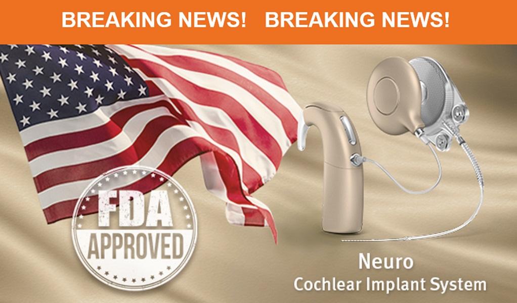 FDA ốc tai điện tử neuro system oticon medical